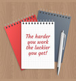 text the harder you work vector image vector image