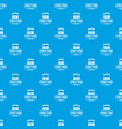 urban shop pattern seamless blue vector image vector image