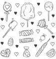 various candy doodle style hand draw vector image vector image