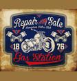 vintage gasoline retro signs and labels gas vector image vector image