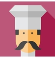 color flar chef icon vector image