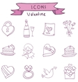 Collection icon of valentine day vector image