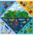 Woodworking Industry Corners vector image