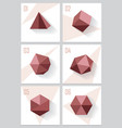 3d origami low polygon logo shapes vector image vector image