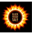 Abstract burning fire circle Black friday sale vector image vector image