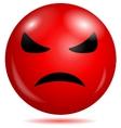 Angry smiley emoticon vector image vector image