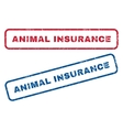 Animal Insurance Rubber Stamps vector image vector image