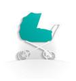 baby icon paper vector image vector image