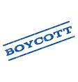 Boycott Watermark Stamp vector image vector image