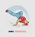 breakdance freeze outline breakdancer vector image vector image