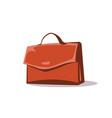 briefcase portfolio flat vector image vector image