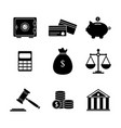 budget money icons vector image