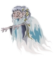 Cartoon old witch with seaweed in hair isolated vector image vector image