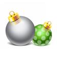 Christmas Glass Toy Image vector image