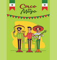cinco de mayo poster design mexicans characters