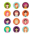 collection different women vector image