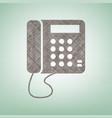 communication or phone sign brown flax vector image vector image