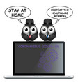 covid 19 stay at home message vector image vector image