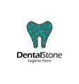 creative dental logo design vector image