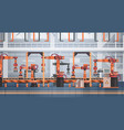 factory production conveyor automatic assembly vector image vector image