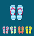 Flip flop set vector image vector image