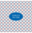 Geometric patriotic seamless pattern with red vector image vector image