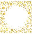 gold dotn vector image vector image
