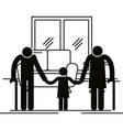 grandparents couple with granddaughter avatars vector image