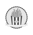 Graphic Label with French Fries vector image
