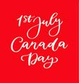 happy canada day card handwritten vector image vector image