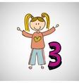 happy child icon vector image