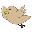 happy little bird on white background vector image