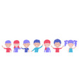 happy smiling kids boys and girls isolated vector image