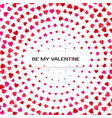 hearts halftone greeting card template pink vector image vector image
