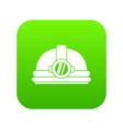 helmet with light icon digital green vector image vector image