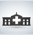 hospital icon cross building isolated human vector image vector image