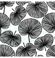 ink hand drawn botanical seamless pattern black vector image vector image