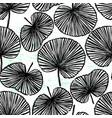 ink hand drawn botanical seamless pattern vector image vector image