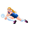 isolated volleyball girl player vector image