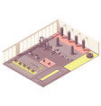 isometric crossfit gym interior vector image vector image