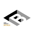 isometric letter b template for creating logos vector image vector image
