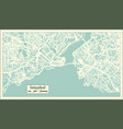 istanbul turkey city map in retro style outline vector image