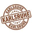 karlsruhe brown grunge round vintage rubber stamp vector image vector image