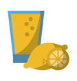 lemonade juice glass cup vector image vector image