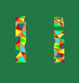 letter ilow poly alphabetgeometric styleabstrac vector image