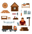Lumberjack cartoon character with lumberjack tools vector image vector image