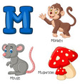 m alphabet vector image vector image