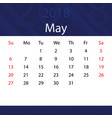 may 2018 calendar popular blue premium for vector image