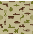 military colors icons theme seamless pattern eps10 vector image