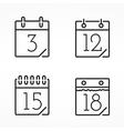 minimal calendar icons vector image vector image